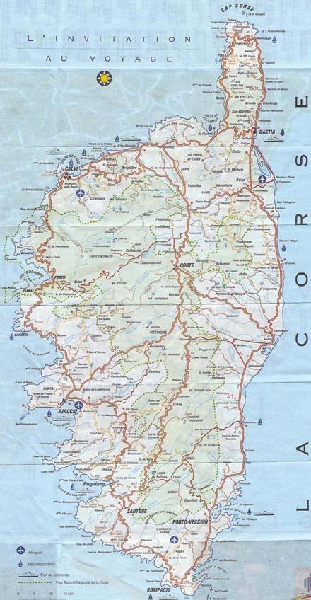 Connu La corse carte , plan corse, Locations villas corse porto vecchio  NK54
